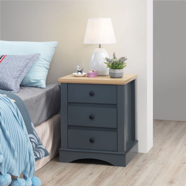 Carden Dark Grey Nightstand/ Side Table
